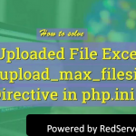 What is PHP.INI File upload error? How to fix it?