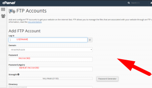 How to Create FTP account in cPanel