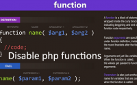 How to disable any PHP Functions via .htaccess
