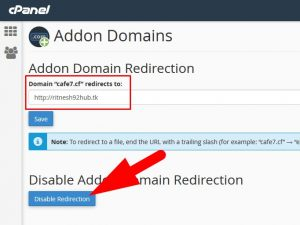 How to solve Addon Domain redirection to Main domain?