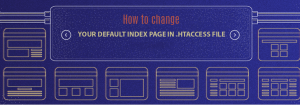 How can I change the default index page of my website?