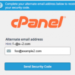 How to change my default email id used for cPanel forgot Password recovery
