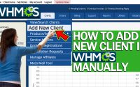 HOW TO ADD NEW CLIENT IN WHMCS MANUALLY