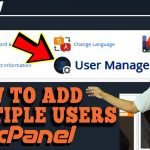 HOW TO ADD MULTIPLE USERS TO ACCESS MY HOSTING ACCOUNT USING CPANEL
