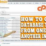 HOW TO COPY TABLES FROM ONE DATABASE TO ANOTHER IN CPANEL