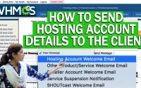 How to send Hosting Account details to the client in WHMCS