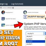 HOW TO SET DEFAULT PHP VERSION IN WHM ROOT