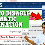 HOW TO DISABLE AUTOMATIC TERMINATION OF SERVICE IN WHMCS