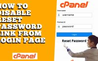 HOW TO DISABLE FORGOT PASSWORD LINK FROM CPANEL LOGIN PAGE