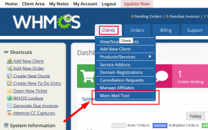 HOW TO SEND MASS EMAILS TO A SPECIFIC CLIENT IN WHMCS