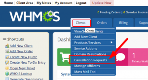 HOW TO MANAGE CANCELLATION REQUESTS IN WHMCS
