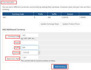 HOW TO ADD A CURRENCY IN WHMCS
