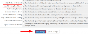 HOW TO ENABLE MONTHLY PRICING BREAKDOWN IN WHMCS