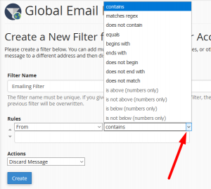 HOW TO CREATE AND SET-UP EMAILS FILTERS IN CPANEL