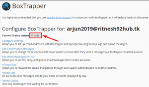 HOW TO ENABLE BOXTRAPPER IN CPANEL