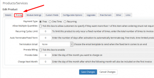 HOW TO SETUP BILLING PERIOD FOR DIFFERENT SERVICES IN WHMCS