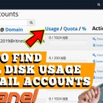 HOW TO FIND OUT DISK SPACE USAGE OF EMAIL ACCOUNT IN CPANEL