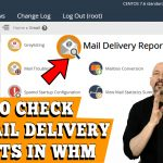 HOW TO CHECK MAIL DELIVERY REPORT IN WHM