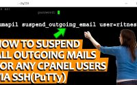 SUSPEND OUTGOING MAILS IN WHM