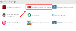 HOW TO ENABLE CSF QUICK UNBLOCK FEATURE TO RESELLER VIA WHM