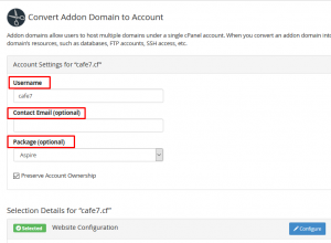 HOW TO CONVERT AN ADDON DOMAIN TO CPANEL ACCOUNT VIA WHM