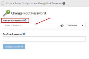 steps to change WHM root password