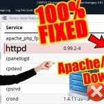 "How to solve ""Apache Down"" or ""httpd Down"" issue in WHM(root)"