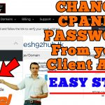 How to change your cPanel password from client area