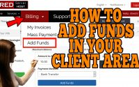 HOW TO ADD FUNDS IN REDSERVERHOST CLIENT AREA