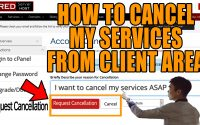 How do i request cancellation of any service from client area