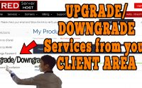 How to upgrade/downgrade order for any service from client area