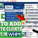 HOW TO ADD CREDIT TO CLIENT'S ACCOUNT IN WHMCS