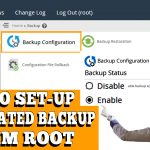configuring automated backup on cPanel\WHM server