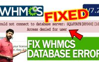 "HOW TO FIX WHMCS DATABASE ERROR ""Could not connect to database server"""