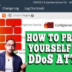 How to prevent DDoS attack via Config Server Security & Firewall in WHM root