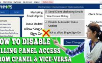 HOW TO DISABLE BILLING PANEL ACCESS FROM CPANEL AND VICE-VERSA FROM WHMCS