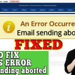 HOW TO FIX WHMCS ERROR- Email send aborted by Hook