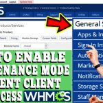 HOW TO ENABLE MAINTENANCE MODE IN WHMCS AND DISABLE USERS FROM ACCESSING CLIENT AREA