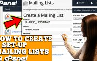 HOW TO CREATE AND SETUP MAILING LIST IN CPANEL