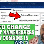 HOW TO CHANGE DEFAULT NAMESERVERS FOR NEW DOMAINS IN WHMCS