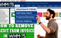HOW TO REMOVE CREDIT FROM INVOICE IN WHMCS