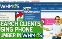 How to Search Your Clients using their phone number in WHMCS