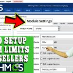 HOW TO SETUP CUSTOM LIMITS FOR RESELLERS IN WHMCS