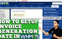 HOW TO SETUP INVOICE GENERATION DATE IN WHMCS