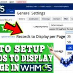 HOW TO SETUP RECORDS TO DISPLAY PER PAGE IN WHMCS