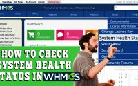 HOW TO CHECK SYSTEM HEALTH STATUS IN WHMCS