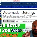 HOW TO SETUP CRONS FOR WHMCS WITHIN CPANEL