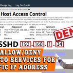how to allow or deny access to services for a specific IP address