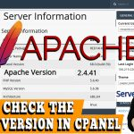 How to check the version of Apache in cPanel