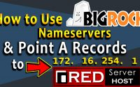 how to run website from redserverhost and point nameservers to bigrock